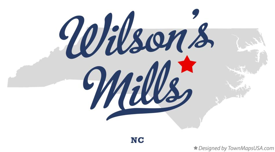 Map of Wilson's Mills North Carolina NC