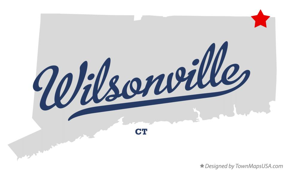 Map of Wilsonville Connecticut CT