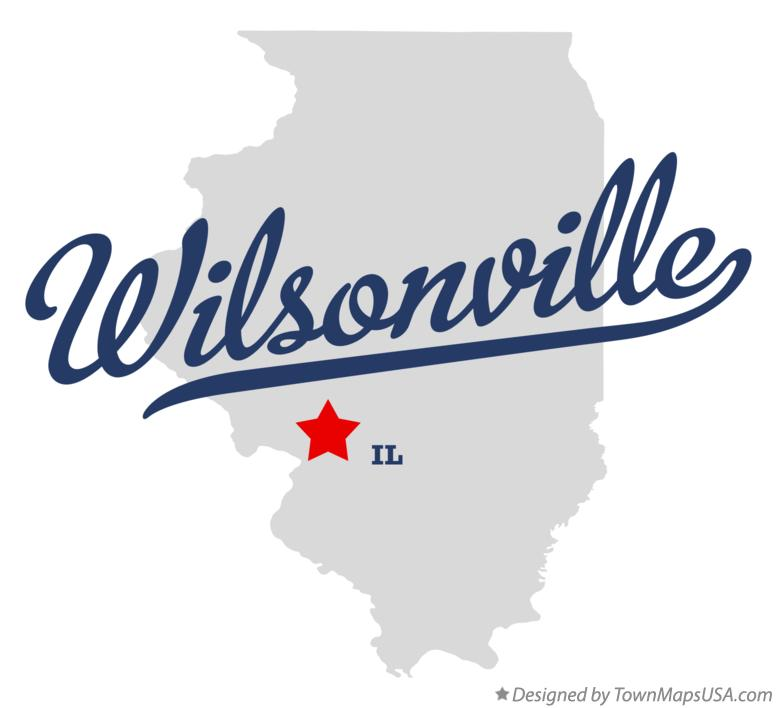 Map of Wilsonville Illinois IL