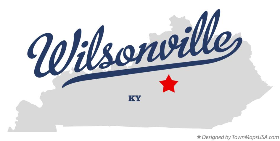 Map of Wilsonville Kentucky KY