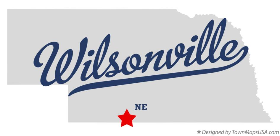 Map of Wilsonville Nebraska NE