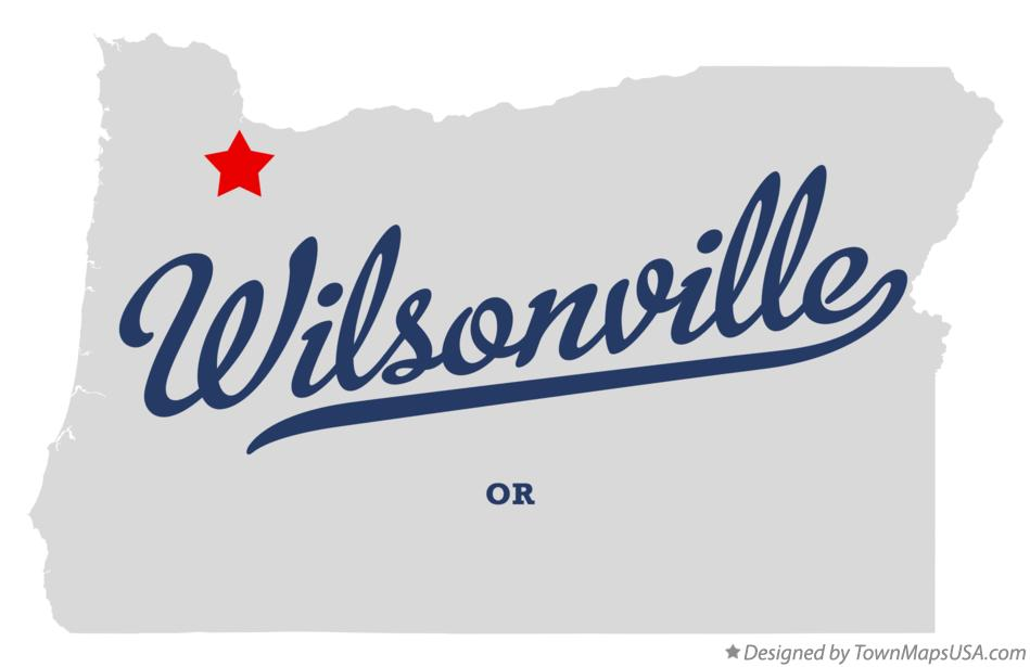 Map of Wilsonville Oregon OR