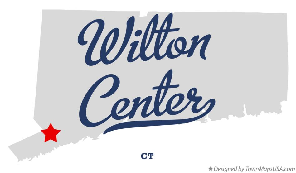 Map of Wilton Center Connecticut CT