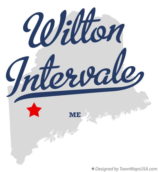 Map of Wilton Intervale Maine ME