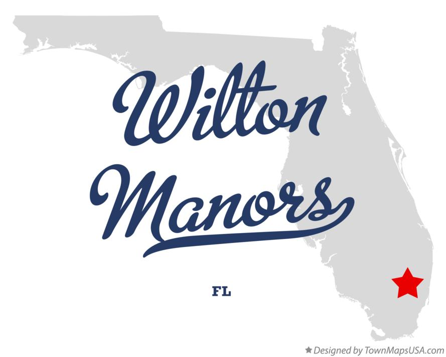 Map of Wilton Manors Florida FL