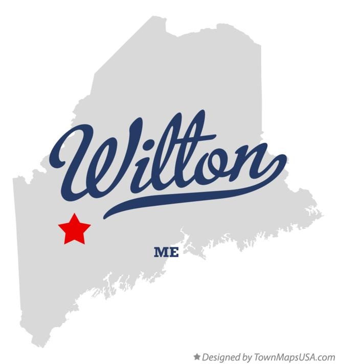 Map of Wilton Maine ME