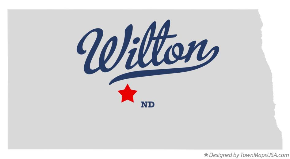 Map of Wilton North Dakota ND