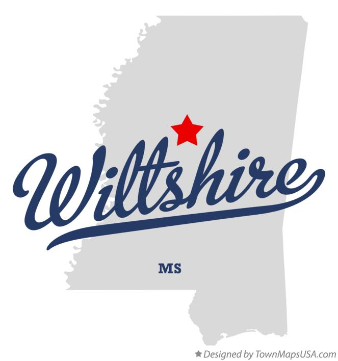 Map of Wiltshire Mississippi MS