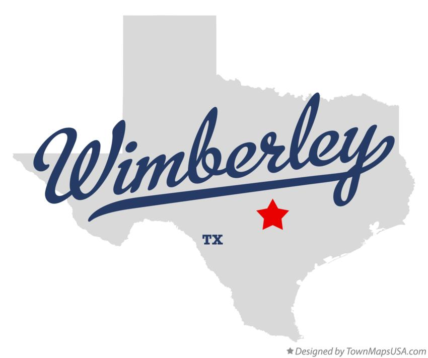 Map of Wimberley Texas TX