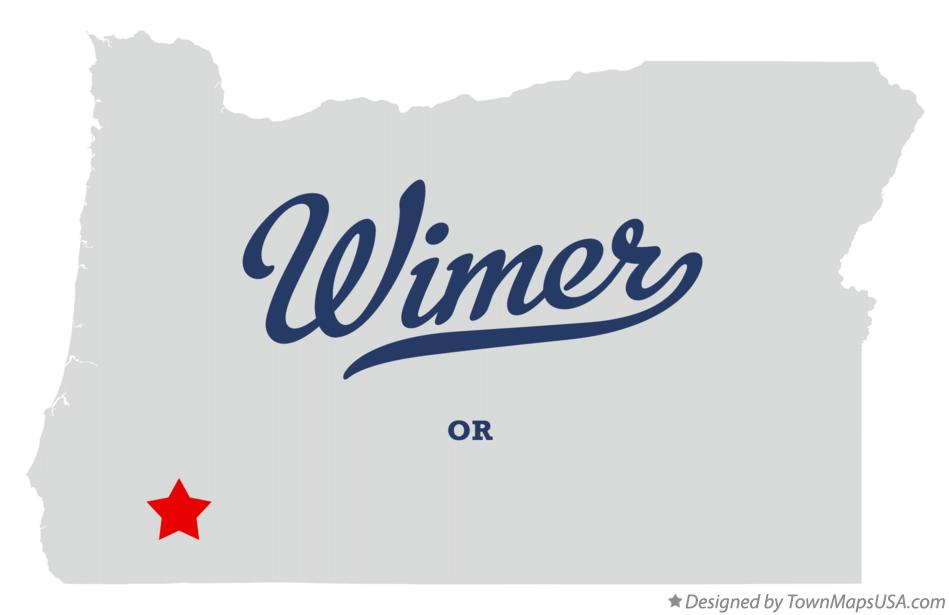 Map of Wimer Oregon OR