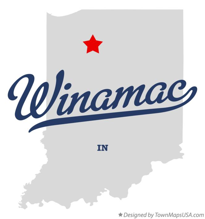 Map of Winamac Indiana IN
