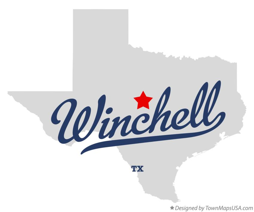 Map of Winchell Texas TX