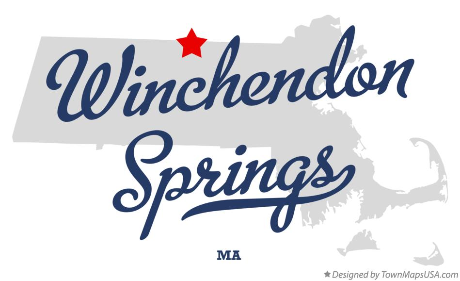 Map of Winchendon Springs Massachusetts MA