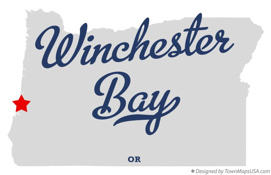 Map of Winchester Bay Oregon OR