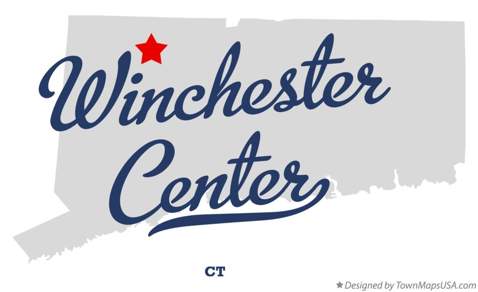 Map of Winchester Center Connecticut CT