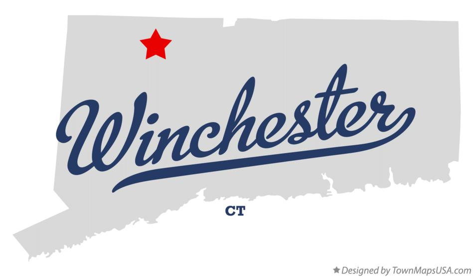 Map of Winchester Connecticut CT