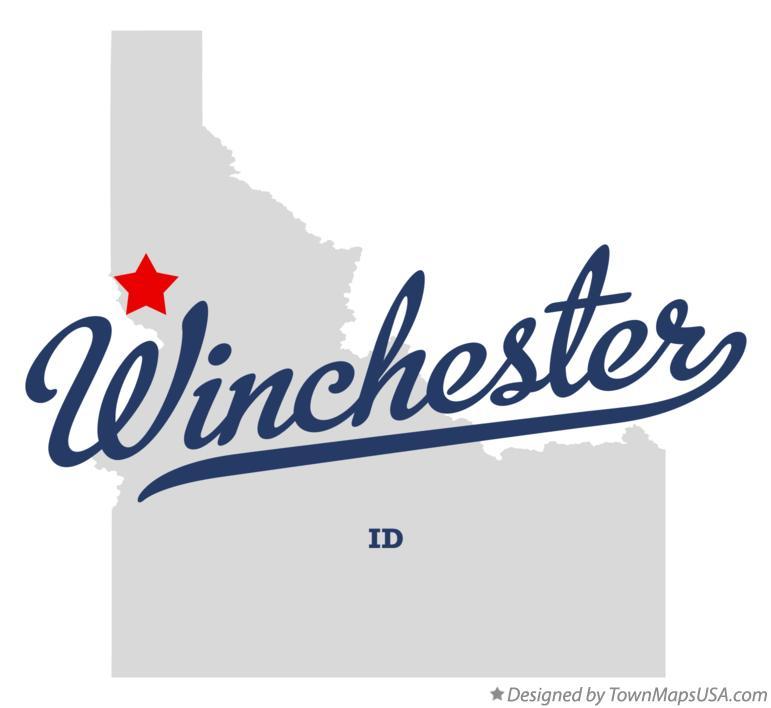 Winchester Idaho Map.Map Of Winchester Id Idaho