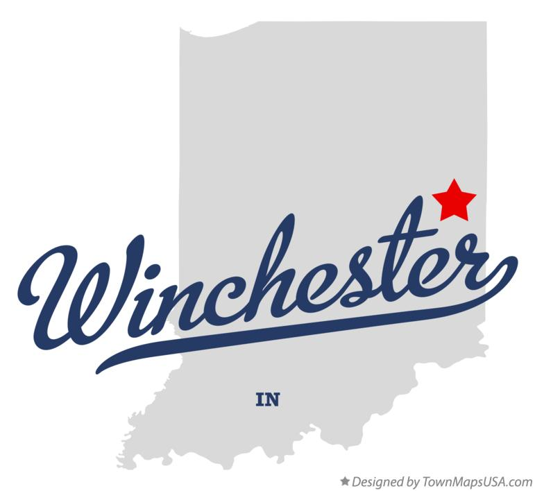 Map of Winchester Indiana IN