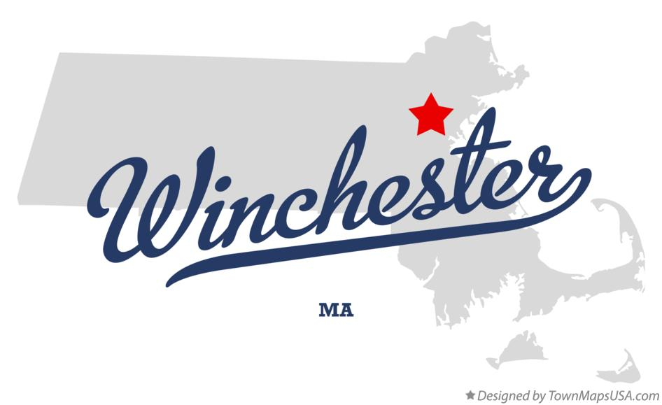 Map of Winchester Massachusetts MA