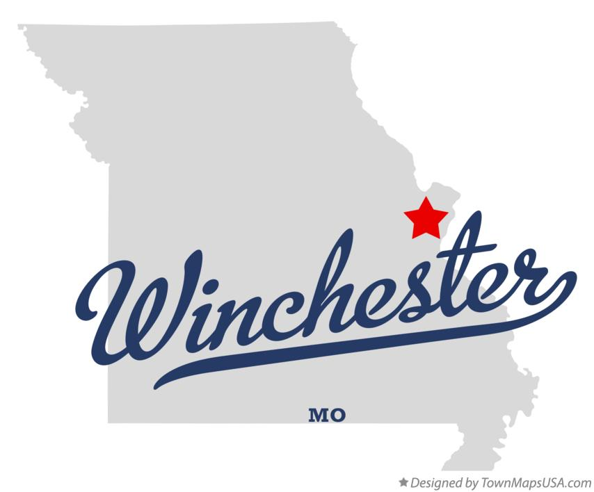 Map of Winchester Missouri MO