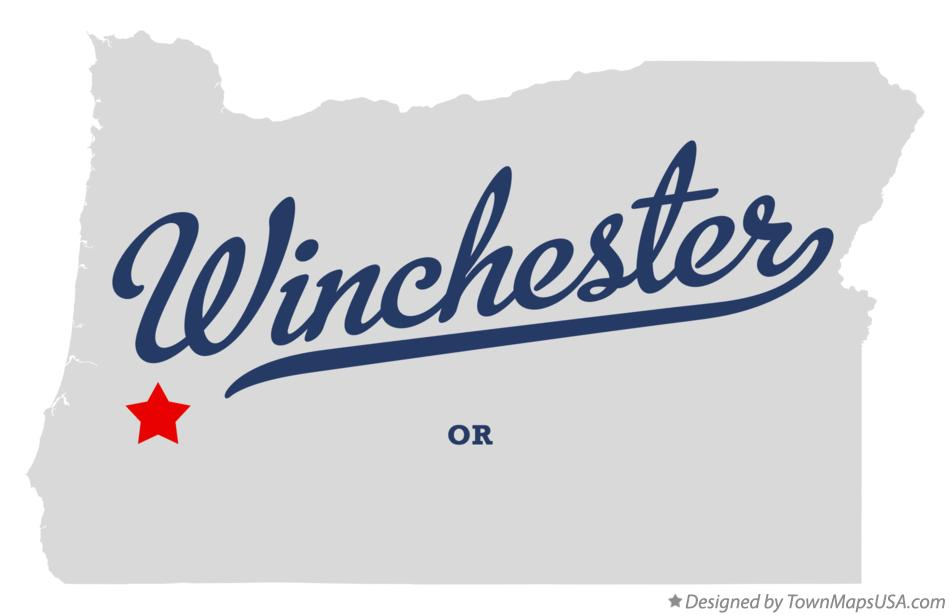 Map of Winchester Oregon OR