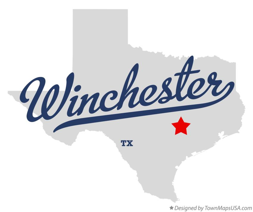Map of Winchester Texas TX