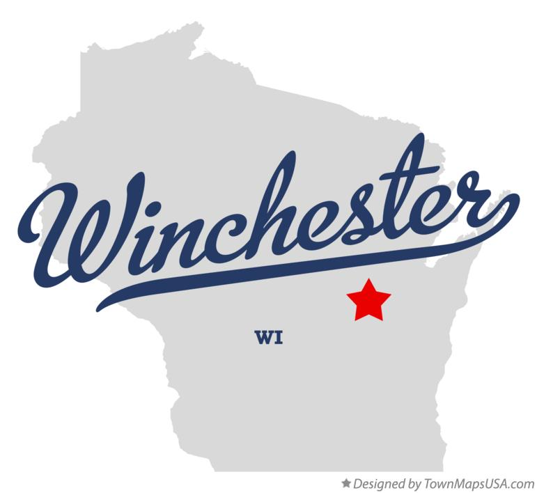 Map of Winchester Wisconsin WI
