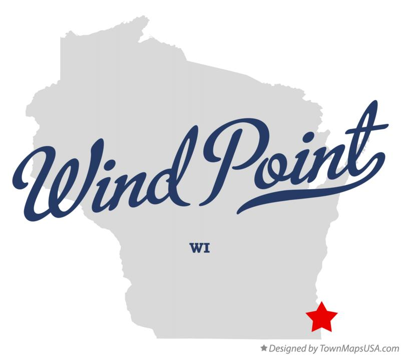 Map of Wind Point Wisconsin WI