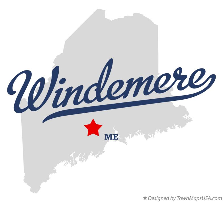 Map of Windemere Maine ME