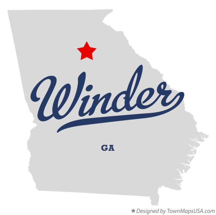 Map of Winder Georgia GA