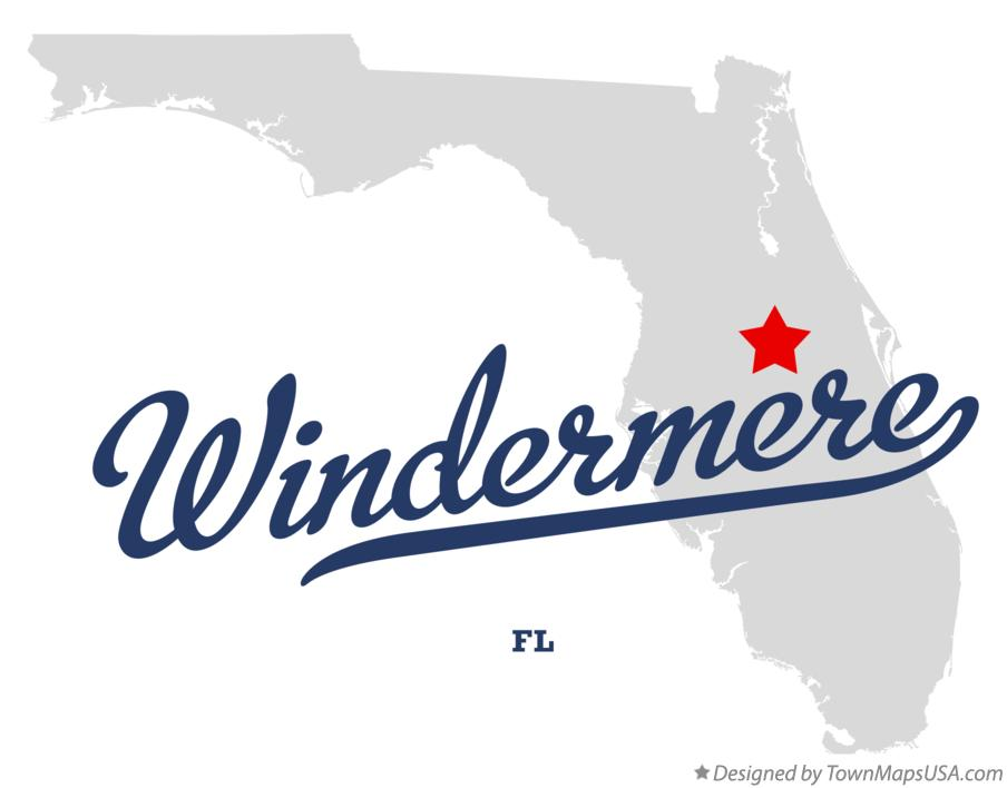 Map of Windermere Florida FL