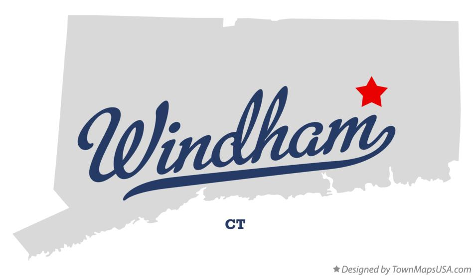 Map of Windham Connecticut CT