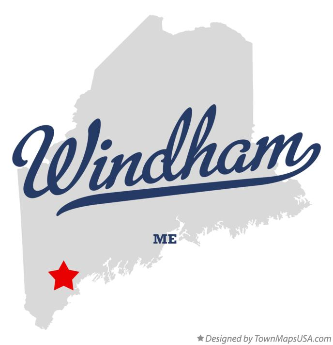 Map of Windham Maine ME
