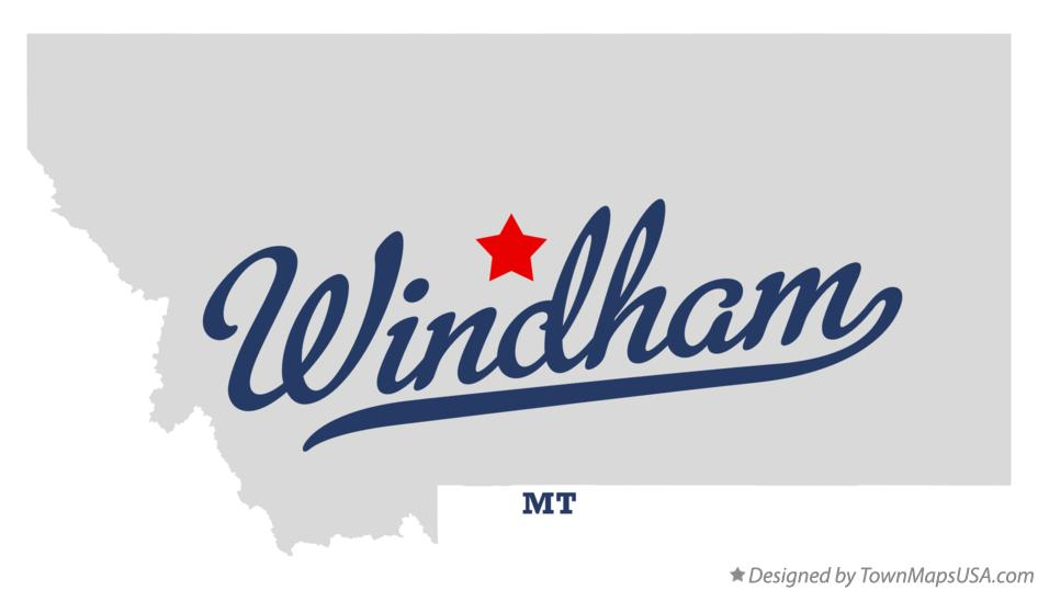 Map of Windham Montana MT