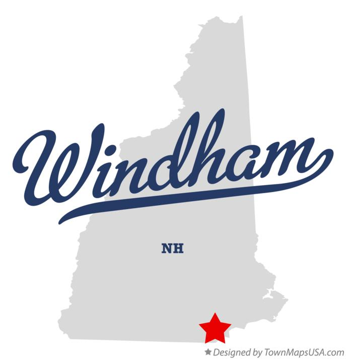 Map of Windham New Hampshire NH