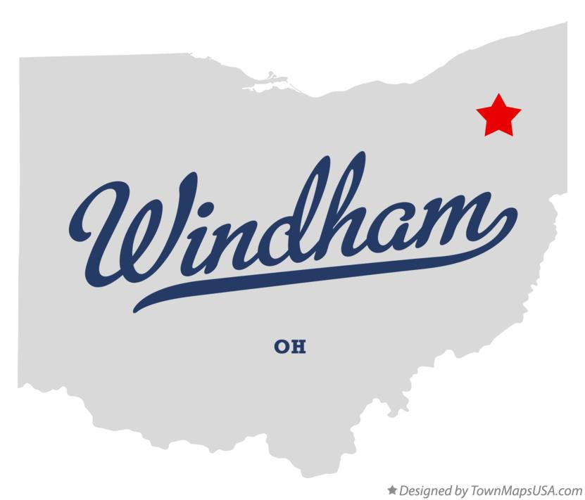 Map of Windham Ohio OH