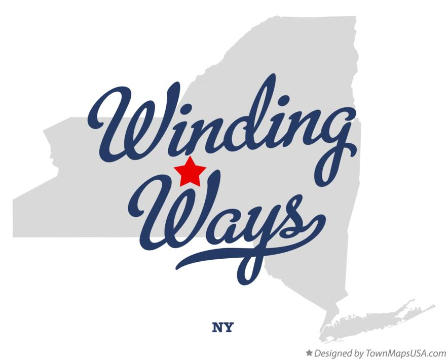 Map of Winding Ways New York NY