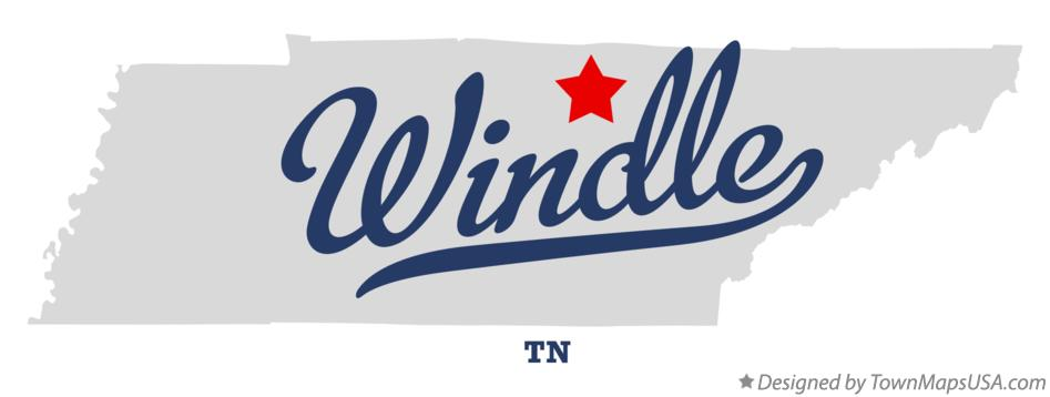 Map of Windle Tennessee TN