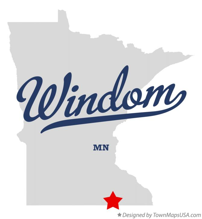 Map of Windom Minnesota MN