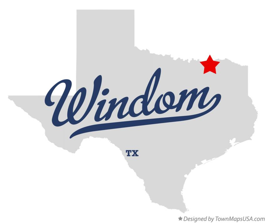 Map of Windom Texas TX