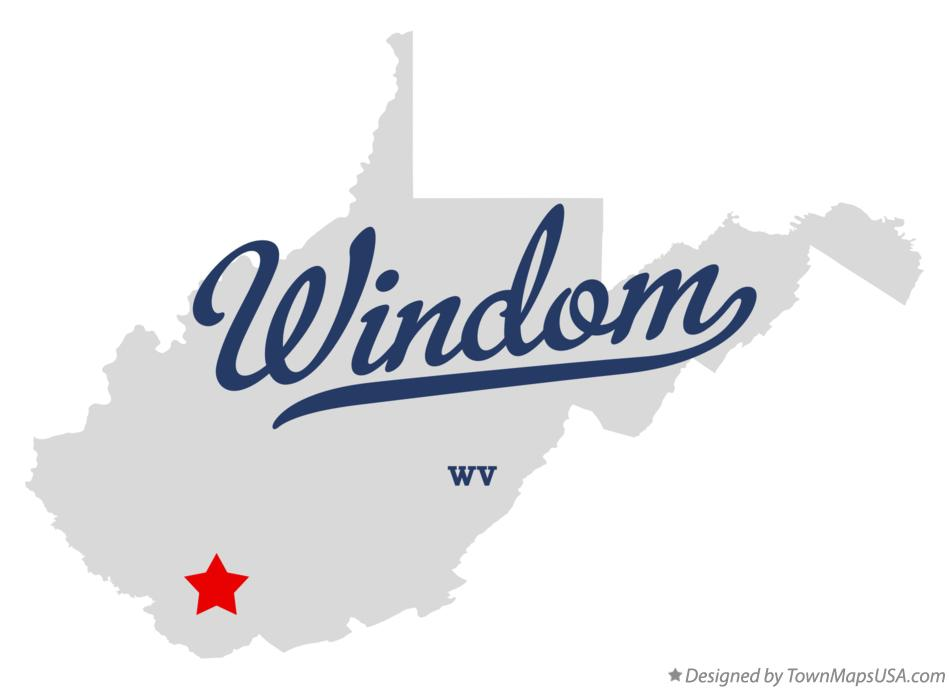 Map of Windom West Virginia WV