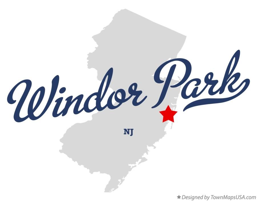 Map of Windor Park New Jersey NJ