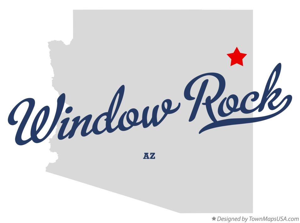 Map of Window Rock Arizona AZ