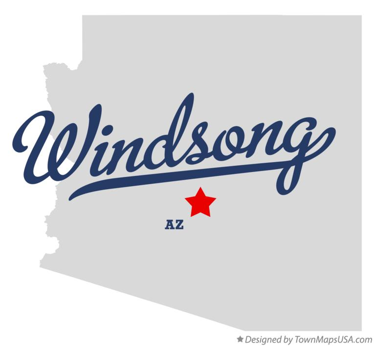 Map of Windsong Arizona AZ