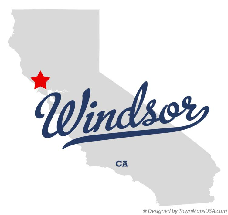 Map of Windsor California CA