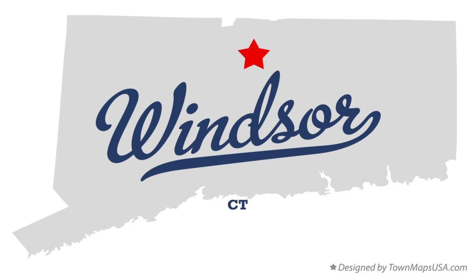 Map of Windsor Connecticut CT
