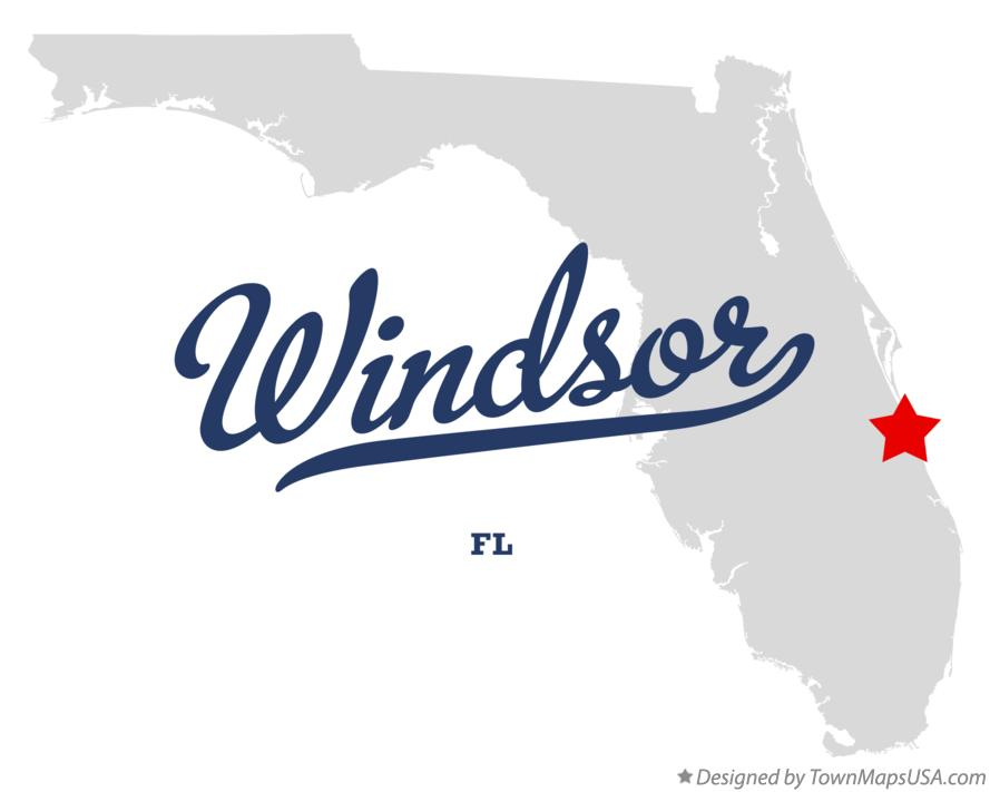 Map of Windsor Florida FL