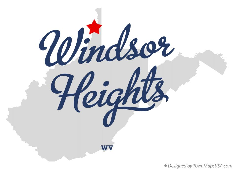 Map of Windsor Heights West Virginia WV