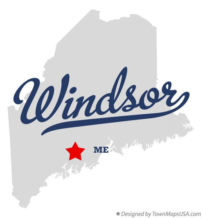 Map of Windsor Maine ME