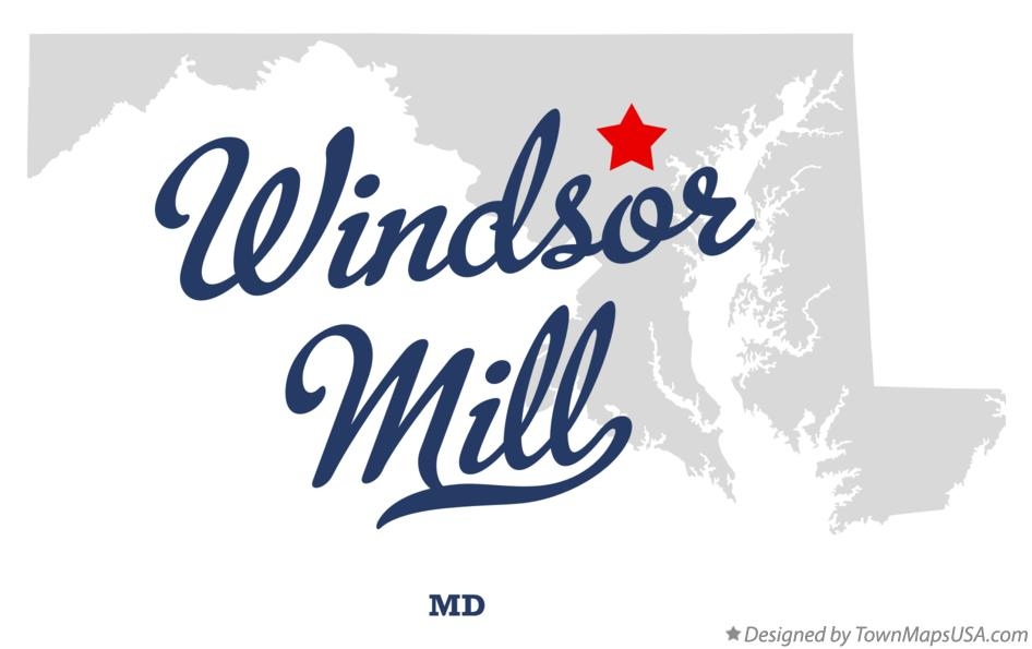 Map of Windsor Mill Maryland MD